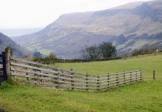 Mountain panorama of the Glenariff forest park Stock Image