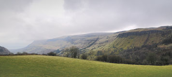 Mountain panorama of the Glenariff forest park Royalty Free Stock Images