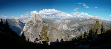 Mountain panorama with Half Dome Yosemite Royalty Free Stock Photo
