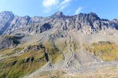 Mountain panorama, Hohe Tauern Alps, Austria Stock Photo