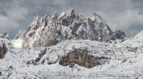 Mountain panorama in the Italy. Beautiful natural landscape in the Italy mountain Stock Photos