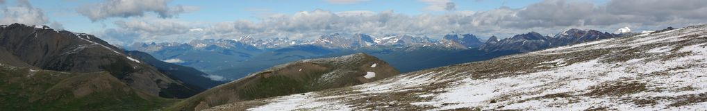Mountain panorama in Jasper royalty free stock photos