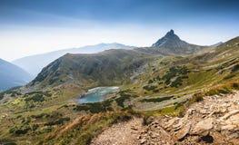Mountain panorama with a lake Royalty Free Stock Photos