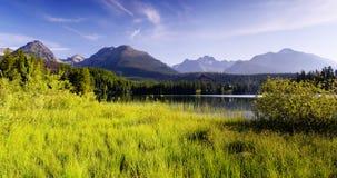 Mountain panorama with lake Royalty Free Stock Photos