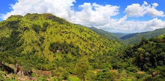 Mountain panorama landscape in Sri Lanka Royalty Free Stock Photo