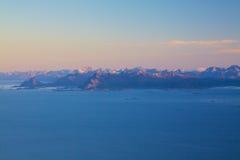 Mountain panorama on Lofoten Royalty Free Stock Photo
