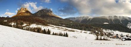Mountain panorama -  Name of peak is Rozsutec Stock Images