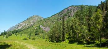 Mountain panorama near the river Kucherla. Trekking in the Altai Mountains Royalty Free Stock Image