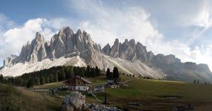 Mountain panorama odle Geisler Royalty Free Stock Image