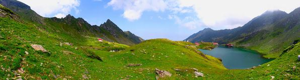 Mountain Panorama. This photo is make on middle of beautiful nature landscape Royalty Free Stock Images