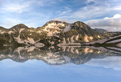 Mountain Panorama. Of the Pirin mountains - Bulgaria Royalty Free Stock Photo