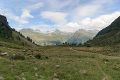 Mountain panorama with Riegelkopf in Hohe Tauern Alps Stock Photo