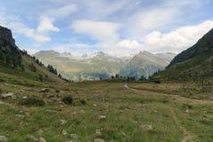 Mountain panorama with Riegelkopf in Hohe Tauern Alps Stock Photo