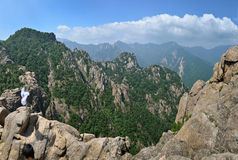 Mountain panorama of Seoraksan National Park Stock Photos