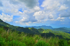 Mountain panorama. With sky from Thailand stock photo