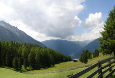 Mountain panorama in South Tyrol Stock Photography