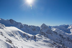 Mountain panorama in the Stubai Alps Royalty Free Stock Image