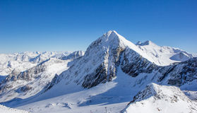 Mountain panorama in the Stubai Alps Stock Photos