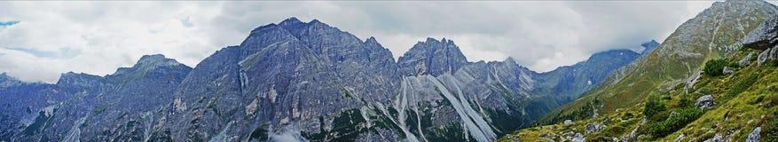 Mountain panorama in the Stubai Alps Royalty Free Stock Image
