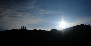 Mountain panorama at sunrise Royalty Free Stock Photography