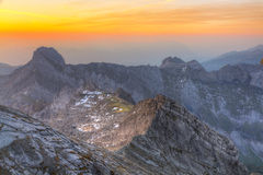 Mountain panorama at sunset from Stock Photos