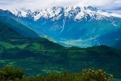 Mountain panorama, Svaneti, Georgia Stock Image
