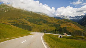 Mountain panorama, Switzerland. View of mountain panorama, Switzerland in summer Stock Photography