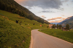 Mountain panorama, Switzerland. View of mountain panorama, Switzerland in summer Stock Image