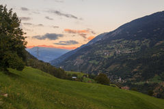 Mountain panorama, Switzerland. View of mountain panorama, Switzerland in summer Royalty Free Stock Image