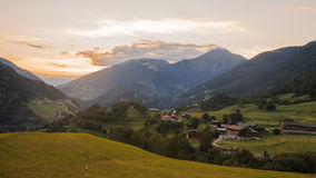 Mountain panorama, Switzerland. View of mountain panorama, Switzerland in summer Stock Photo