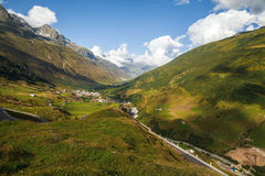 Mountain panorama, Switzerland. View of mountain panorama, Switzerland in summer Royalty Free Stock Photo