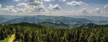 Mountain panorama Stock Images