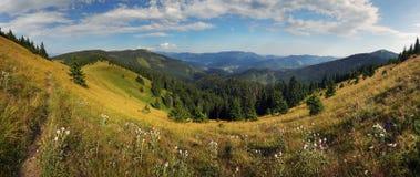Mountain panorama, Velka Fatra, Smrekovica Royalty Free Stock Photo