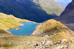 Mountain panorama view with lake, Hohe Tauern Alps, Austria Stock Image