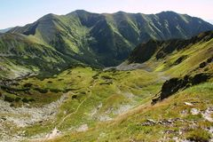 Mountain panorama from Western Tatras. Zapadni Tatry. Rohace. Slovakia. European mountain.  stock photos