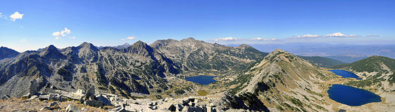 Mountain range panorama Royalty Free Stock Photo