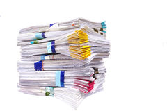 Mountain of paper symbolizing workload Stock Image