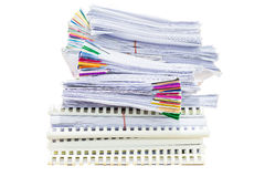 Mountain of paper symbolizing workload Stock Photography
