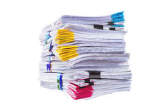 Mountain of paper symbolizing workload Royalty Free Stock Image