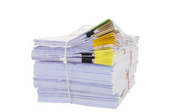 Mountain of paper symbolizing workload Stock Images