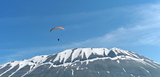 Mountain paraglider Royalty Free Stock Image