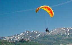 Mountain paragliding Stock Image