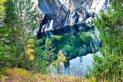 Mountain park Ruskeala Royalty Free Stock Photography