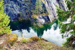 Mountain park Ruskeala Stock Photos