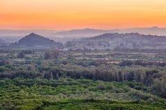 Mountain park on twilight Stock Photography