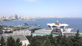 Baku, panoramic view from the mountain park stock video