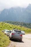 Mountain parking lot Stock Photography