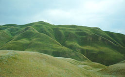 Mountain pass. The picture is made of a window of the car during travel across Kyrgyzstan Stock Photos