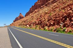 Mountain Pass in Arizona Royalty Free Stock Photo