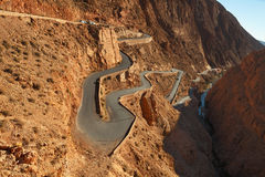 Mountain pass in Dades Gorges Stock Photography